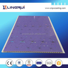home interior decoration hot-stamping 25cm width ceiling pvc wall panel Algeria,plafond de pvc