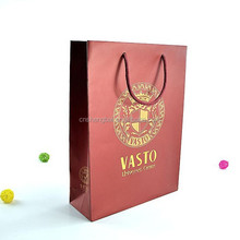 customized hot gold stamping printing shopping paper gift bag
