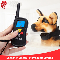 2015 training collar with LCD display dog collar with transmitter shenzhen