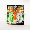 De plástico alien resortera juguetes, pegajosa en los juguetes de la pared, chico divertido juguetes resortera