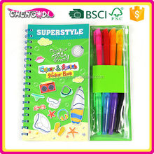 From China Supplier coloring book and pens, kids coloring book and pens, potential development coloring book and pens