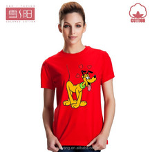 200g summer combed cotton wholesale blank t shirts for woman