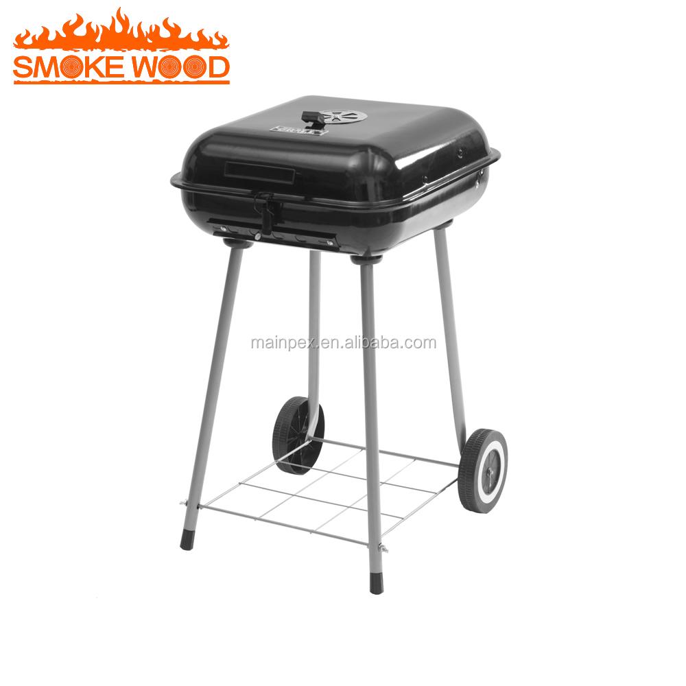 22 Pouce Carré De Fer Fenêtre Grill Design Barbecue De Charbon De Bois Grill