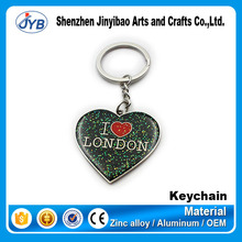 wholesale custom metal heart shaped keychain/all types of keychains