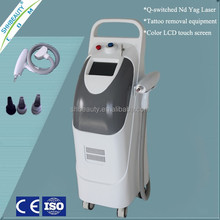 1600 mj q switched nd yag laser, tattoo removal machine, laser tattoo remover