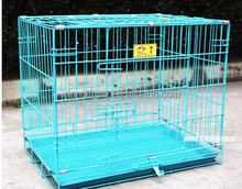 Folding pet cage, large stainless steel dog cage for sale cheap