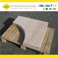 Shandong Yellow Rustic Granite tile for swimming pool,granite pool tile steps