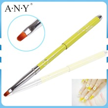 ANY High Quality Metal Handle UV Gel Art Nail Care Oval Nail Art Brush with Names Engraving