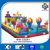 2015 hot sale inflatable bouncer slide series pleasant sheep and grey wolf giant inflatable animals