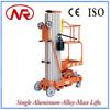 Aluminum Alloy Single Post Vertical Mast Type Lifts