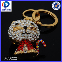 Novelty Creative father image of the cat Fancy shaped Metal keychains