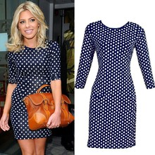 Hot Sale New Bodycon Slimming Party FOR Girls Dress Polka Dots ZT-002111