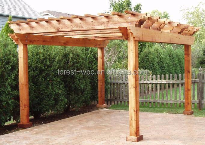 Pergola in legno disegno di plastica pergola in legno for Pergolas de madera para jardin leroy merlin