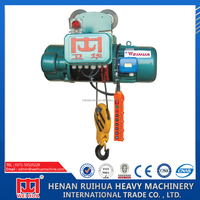 2015 golden quality small electric wire rope hoist