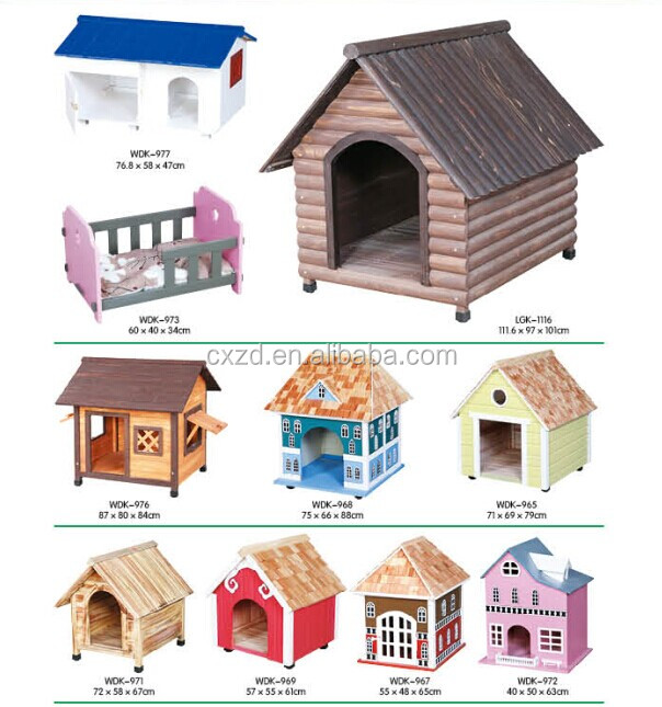 2014 Hot sale cheap large wooden dog house