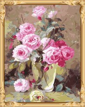 flower diy oil painting by numbers hobby painting set for adults GX7315