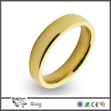 Wholesale fashion men and women's comfort fit 18k stainless steel gold wedding band