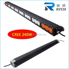 New Superbright 240W single row 52 inch led light bar offroad light bar water proof led car light /led light bar /car accessory
