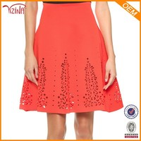 Wholesale pictures of red a-line skirt, fashion korean long skirt for women