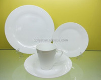 White plain ceramic plates dinnerware sets
