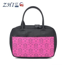 Factory made china korea fashion ladies canvas handbag import wholesale with petal printing for travel
