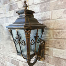 decorative outdoor wall light, garden lamp, gate lamp 733A/N BG