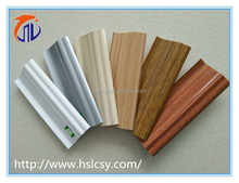 Plastic building materials pvc skirting board with clips