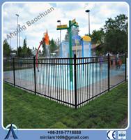 2015 Powder coating high quality black steel fence, picket fence
