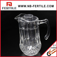 LY 128172 Arcylic draft beers pot with cover/clear juice pot with lid/cold water pot