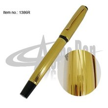Gold Roller Ink Pen Computer Thread Finish Metal Roller Ball Pen Smooth Writing Liquid ink Pen School Stationery