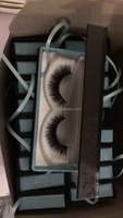 2015 Top Quality Private Label Natural Looking 3D 100% Real Mink Fur strip Eye Lashes