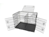 "42"" Folding Dog Pet Cage 3 Door Crate Kennel with divider"
