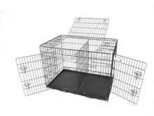 """42"""" Folding Dog Pet Cage 3 Door Crate Kennel with divider"""