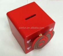 Square money saving coin box, Square money saving bank, pvc money&coins collection boxes