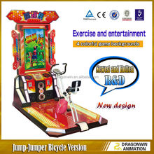 Fashion 42inch video arcade game machine ride electric bicycle for kids and lady