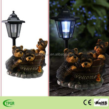 Polyresin dog welcome statues in resin crafts