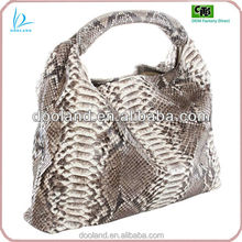 Hot style genuine python leather handbag, real python skin hobo bag