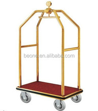 Stainless steel hotel baggage trolley/ luggage trolley/carts