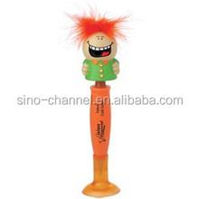 Wholesale custom cartoon novelty orange face pen
