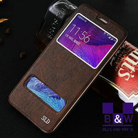 For Samsung galaxy note 5 case Screen Window Folio Leather Wallet Case For Samsung Note 5