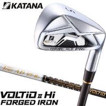 KATANA GOLF VOLTIO II Hi FORGED Japanese golf iron sets (No5-Pw) with graphite design original TOUR AD shaft