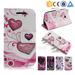 Glitter powder colorful printing pu leather wallet case for Coolpad Modena