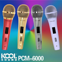 PCM-6000 - KOOL SOUND Condenser Microphone with 6mm x 2.5meters stereo cable with 3.5 jack