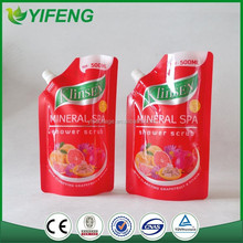 custom printed laundry detergent packaging bag with spout / liquid detergent bag