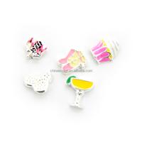 Locket jewelry 2014 enamel memory floating charms wholesale