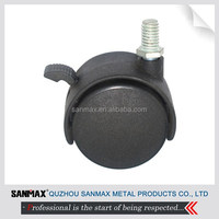 Sanmax factory direct sales furniture caster wheel with total lock, office chair caster wheel