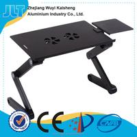 Mini Lightweight Portable Aluminium Computer Table with USB Fan