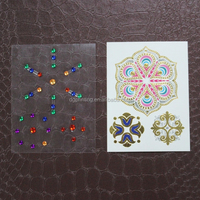 2015 colorful gem flash metallic tattoo stickers