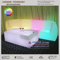 puff sofa con luz / modern fashion led lounge puff sofa (SF201)