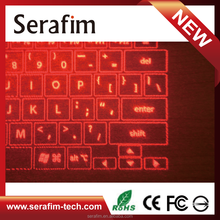 Computer Keyboard Red Laser Projection Virtual Keyboard Professionally Manufactured